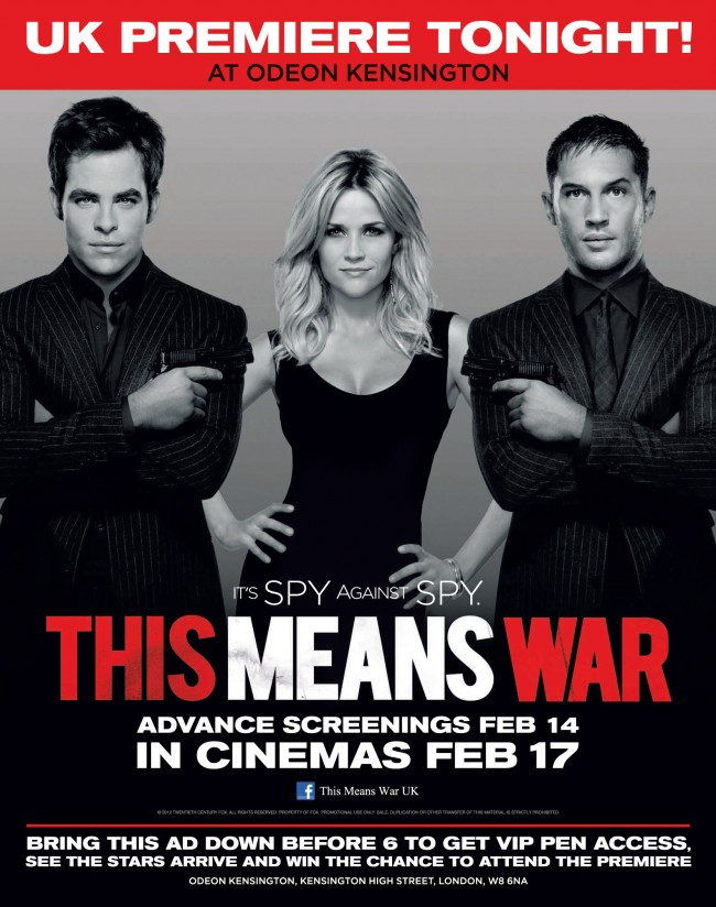 TMW UK FANPREMIERE 650x824 This Means War UK Premiere – Calling all UK Pine Nuts!