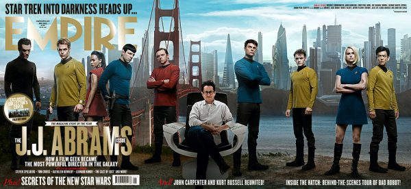 empirejjabramsissue 600x276 Empire Magazine May Issue to Feature Tri Fold Star Trek Cover!!
