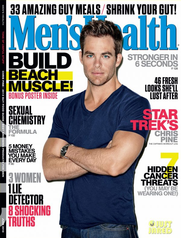 001 600x788 Chris Covers Mens Health June 2013